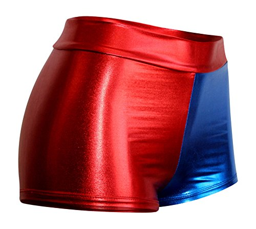 Harley Quinn Suicide Squad Inspired Metallic HIGH WAIST Booty Shorts
