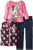 Disney Baby-Girls Infant Minnie Mouse 3 Piece Nylon Vest Set