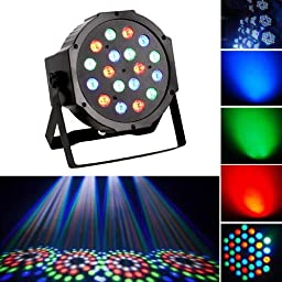 ALED LIGHT® 18 RGB LED Par Can Disco Stage Light with Automatic Music Sensor and Handle For Disco, Ballroom, KTV, Bar, Stage, Club, Party, Wedding