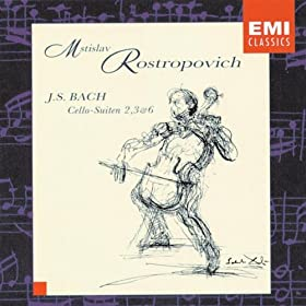 6 Suites (Sonatas) for Cello BWV1007-12, Suite No.2 in D minor, BWV1008: Gigue