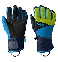 Outdoor Research Men\'s Centurion Gloves, Night/Lemongrass/Hydro, X-Large