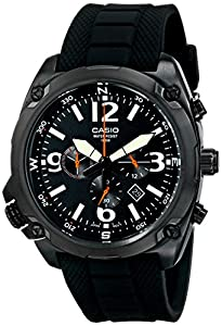"Casio Men's MTF-E002B-1AVCF ""Classic"" Chronograph Watch with Black Resin Band"