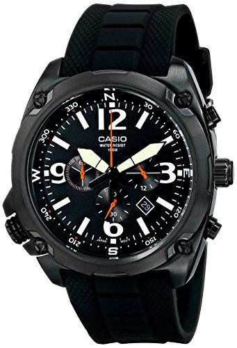"Casio Men's MTF-E002B-1AVCF ""Classic"" Chronograph Watch with Black Resin Band"