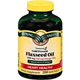 Spring Valley Cold Pressed Flaxseed Oil Softgels 1000 Mg- 200 Count