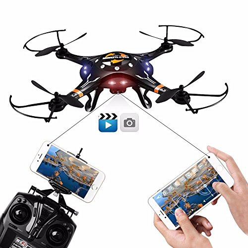 DBPOWER FPV WiFi G-Sensor Control Hawkeye-II Quadcopter One Key Taking-off Landing and 720P HD Drone Camera Rc Helicopter Drones