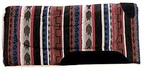 Weaver Leather Cut Back Diamondback Saddle Pad, Black/Blue/Tan/Burgundy