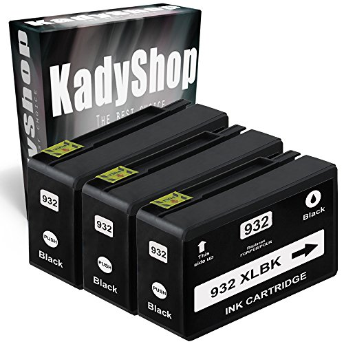3 Druckerpatronen Kompatibel für Hp 932 XL (3x Schwarz, Black , BK), HP Officejet 6700 Premium 6600 e-All-in-One 7110 wide format 7600 Series 7610 wide format 7612 wide format 6100 e-Printer hp932/933-3xBlack