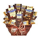 California Delicious Ghirardelli Dark Chocolate Sampler Gift Basket, 6 Pound