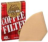 Kalita コーヒーフィルター みさらし103濾紙 4~7人用 40枚入り 「10パックセット」