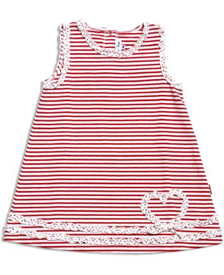 Le Top Puppy Love Red Heart Sleeveless Striped Cover-up Dress - Buy Le Top Puppy Love Red Heart Sleeveless Striped Cover-up Dress - Purchase Le Top Puppy Love Red Heart Sleeveless Striped Cover-up Dress (le top, le top Apparel, le top Toddler Girls Apparel, Apparel, Departments, Kids & Baby, Infants & Toddlers, Girls, Skirts, Dresses & Jumpers, Dresses)