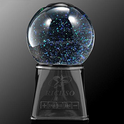 Tronfy Fancy Mr-1 (Music Rasengan) - Portable Wireless Bluetooth Magic Crystal Ball Water Dancing Speaker, Luminous Colorful, Dual 4 Watt Driver (Black)
