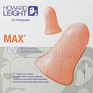 Howard Leight MAX1 Earplugs Uncorded NRR33 Box/200 Count