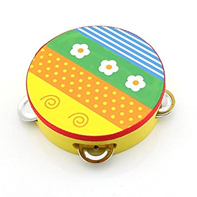 Colorful Musical Toy Baby Kids Cartoon Handbell Clap Drum Tambourine(Random Delivery)
