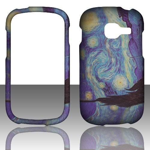Blue Night 2d Rubberized Design for Samsung S738c Galaxy Centura/discover S730 Cell Phone Snap-on Hard Protective Case Cover Skin Faceplates Protector (Samsung S730 compare prices)