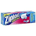 Ziploc Freezer Bags, Slider, Quart, 15 bags