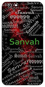 Sanvah (Carrying Along Bearing Wind) Name & Sign Printed All over customize & Personalized!! Protective back cover for your Smart Phone : Apple iPhone 5/5S