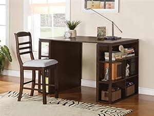 Counter Height Computer Desk : ... Modern Counter Height Computer Desk in Dark Oak: Kitchen & Dining