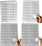 """(400 Sheets; 5,600 Labels), Same Size as Avery© 5162, 14-UP, Address/Mailing Labels (4.0"""" x 1-1/3"""") -- BPA Free!"""