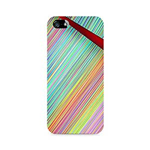 Rayite Broken Abstract Lines Premium Printed Case For Apple iPhone 5/5s