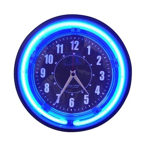 Spy-Max Security Products Hi Res Neon Wall Clock Self Recording Surveillance Camera, Includes Free Ebook