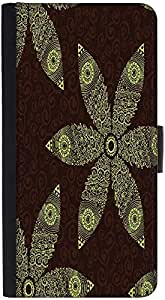 Snoogg Floral Seamless Pattern Graphic Snap On Hard Back Leather + Pc Flip Co...