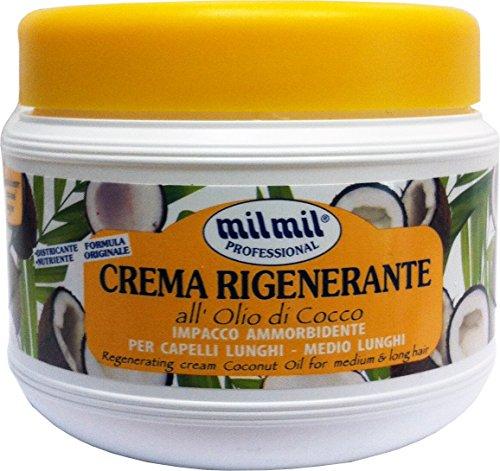 12 x MIL MIL Crema Capillare Rigenerante Olio Di Cocco 500 Ml