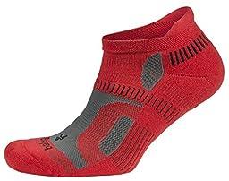 Balega Hidden Contour Socks Small Red/Grey