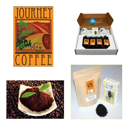Coffee and Wulong Tea Sampler Pack with Acia & Goji Berries