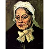 Art Panel - Head Of An Old Woman With White Cap The Midwife