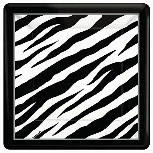 Zebra Square Dinner Plate - ECO - 1