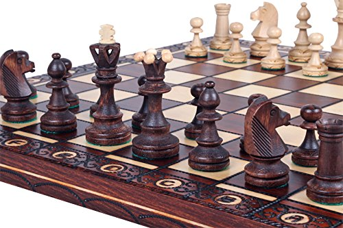 The Zaria - Unique Wood Chess Set, Pieces, Chess Board & Storage 2