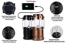 Evana (get free TTL/Trusttel Branded mobile pouch) Lightning Multi Purpos Mobile Power Bank LED Solar Emergency Light Lantern + USB Mobile Charger, 3 Power Source Solar, Battery, Lithium Battery, Travel Camping Lantern