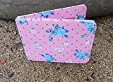 Vintage Pink Flower Travel Card / Oyster Card Holder