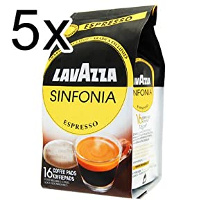 Find Lavazza Sinfonia Espresso, Pack of 5, 5 x 16 Coffee Pods from Luigi Lavazza S.p.A.
