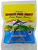 Marlin Fish Jerky product has been enjoyed by Hawaii's locals for years, and is a definitive piece of modern hawaii snack culture! We support our local fishermen using locally caught marlin, prepared with genuine ingredients. No preservatives or MSG. Great on the go snack!