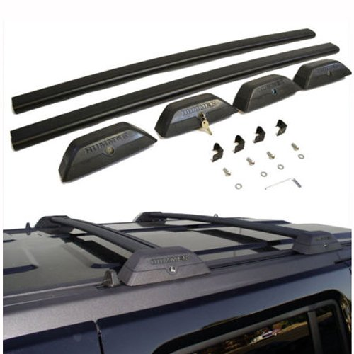 SYPPO Black OE Style Roof Rack Cross Bars Set W/ Lock H3T Luggage Key for 06-10 Hummer H3 (Luggage Rack Hummer H3 compare prices)
