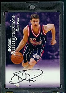 1999-00 Skybox Autographics Trading Card Brent Price Houston Rockets Basketball Card-... by Skybox
