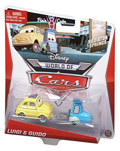 Disney Pixar Cars, Radiator Springs Die-Cast Vehicle, Luigi & Guido #3,4/15, 1:55 Scale