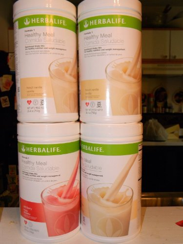 Herbalife Formula 1 Shake Mix - Lot of 4 Cans