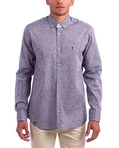 Polo Club Camisa Hombre Lombardia Azul Grisáceo