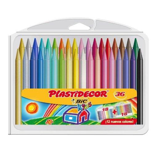 Bic 882337 - Pack de 36 lápices de ceras