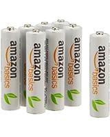 AmazonBasics Pack de 8 piles AAA Ni-MH pré-chargées et rechargeables 1000 cycles 800 mAh Minimum 750 mAh