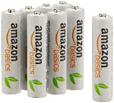 AmazonBasics 8 Pack AAA Ni-MH Pre-Charged Rechargeable Batteries,  1000 Cycle (Typical 800mAh, Minimum 750mAh)