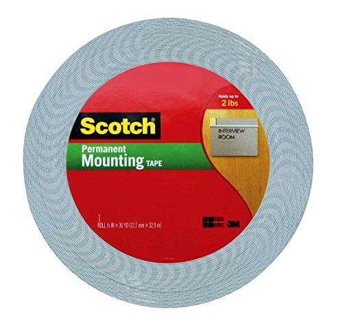 3M Scotch 1/2-Inch by 36-Yard Double-Sided Foam Tape