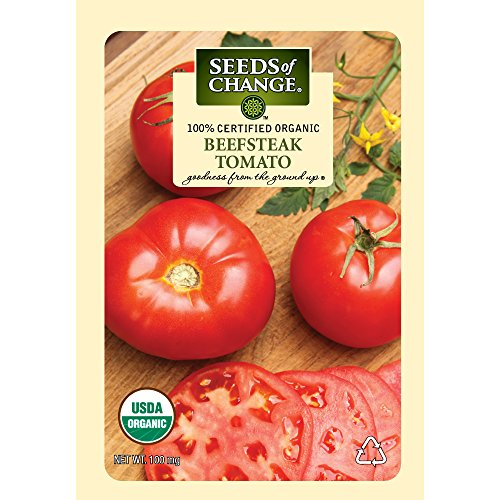 Seeds of Change Certified Organic Tomato, Beefsteak - 100 milligrams, 25 Seeds Pack (Beefsteak Tomato compare prices)