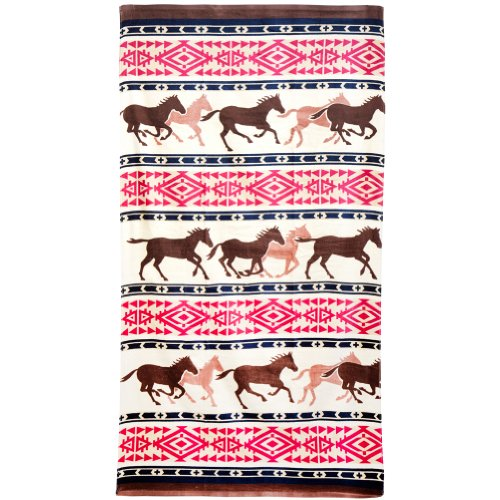 Westernwear Men'S Horse Adventure Bath Towel One Size Multi One Size front-1022027