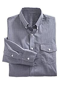 Fair Indigo Men's Fair Trade Pima Cotton Check Shirt