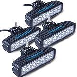 (スタンセン) Stansen LEDワークライト LEDライトバー オフロード 防水作業灯 CREE製18W 6連10-30VDC対応(12V/24V兼用)4個セット [並行輸入品]