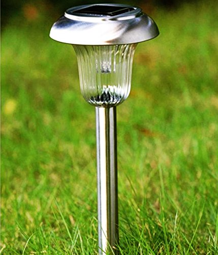 8pack dual color led stainless steel solar lights outdoor sogrand solar pathway lights solar landscape lighting solar - Solar Pathway Lights