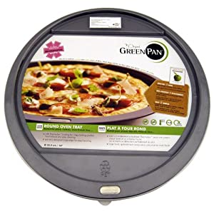 GreenPan Dubai Ovenware Pizza Pan, 13-1/2-Inch